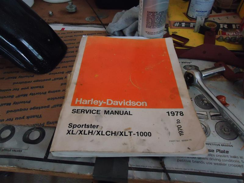 Sportster Service Manual on 1970 Ironhead Sportster
