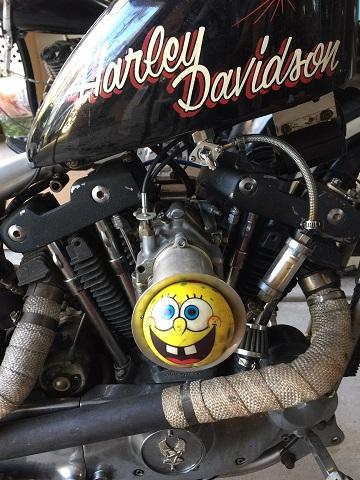 SS carburetor on Ironhead Sportster