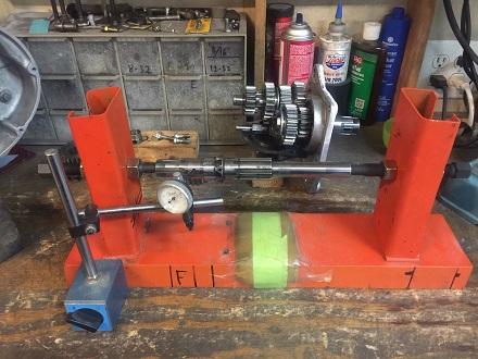 check mainshaft straightness