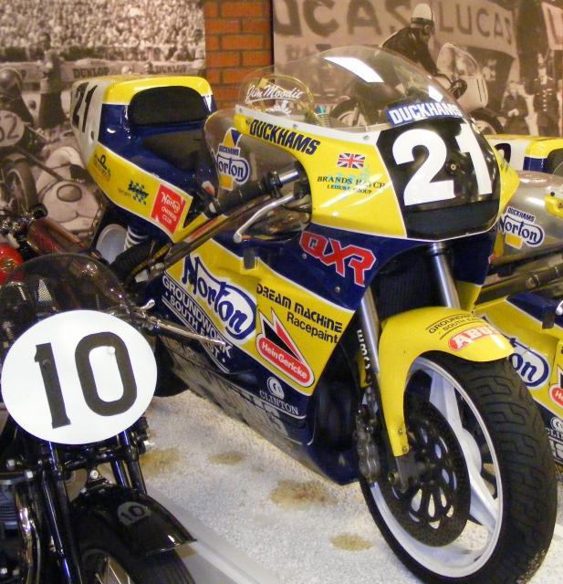 Duckhams Oil Norton racebike