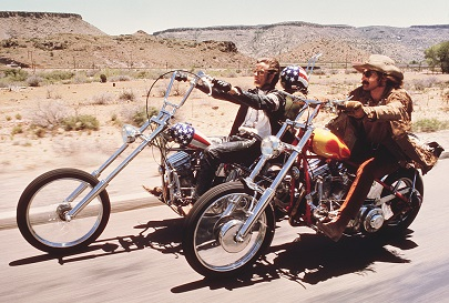 Peter Fonda and Dennis Hopper in the movie Easy Rider