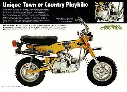 Honda CT-70 ad