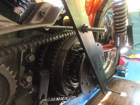 DIY Ironhead Sportster clutch removal tool