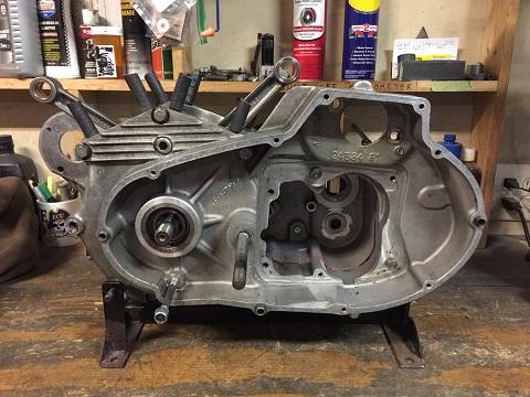 1980 Ironhead engine assembly