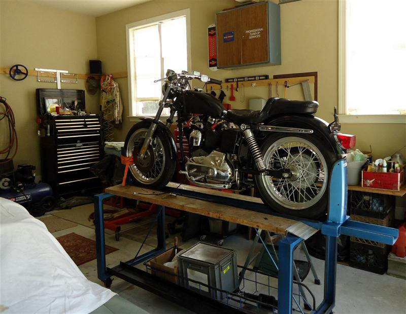 DIY motorcycle work stand