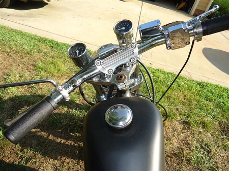 drag bars installed on 1976 Sportster
