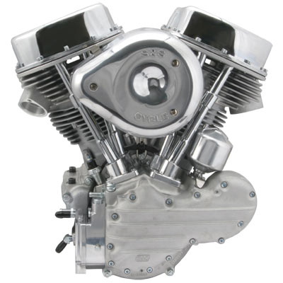 Aftermarket Harley Panhead engine