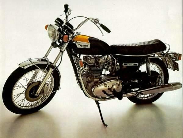 Vintage British Motorcycle, Triumph Trident