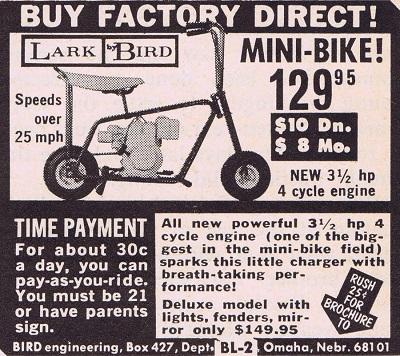 vintage minibike ad
