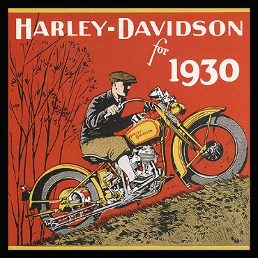 1930 Harley-Davidson ad