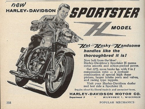 Early Sportster motorcycle history