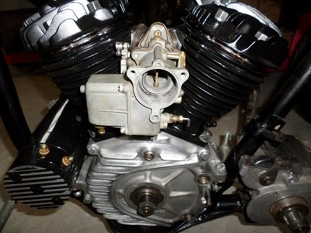 Harley 45 flathead engine assembly