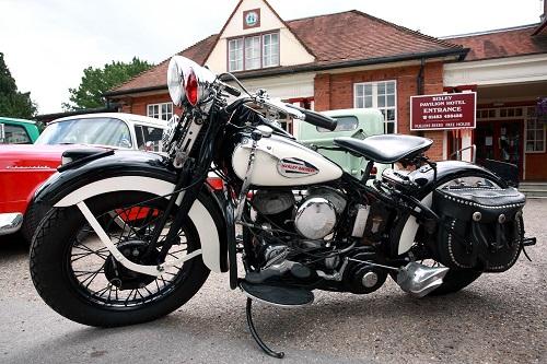 Harley 45 flathead motorcycle