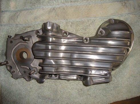 polishing motorcycle engine case