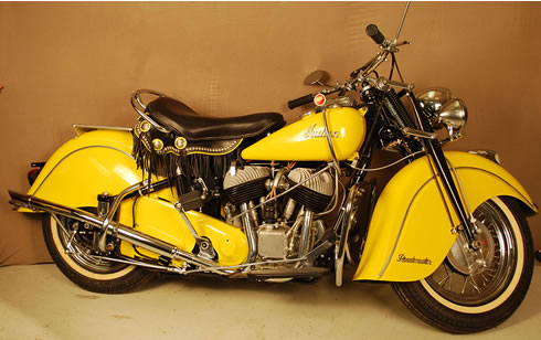 Vintage Indian Chief with Plunger Frame