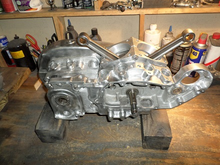 Ironhead bottom end engine build