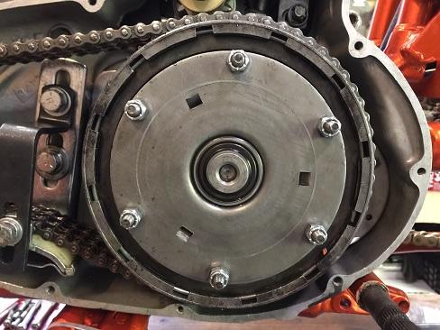 Ironhead clutch pressure plate nuts