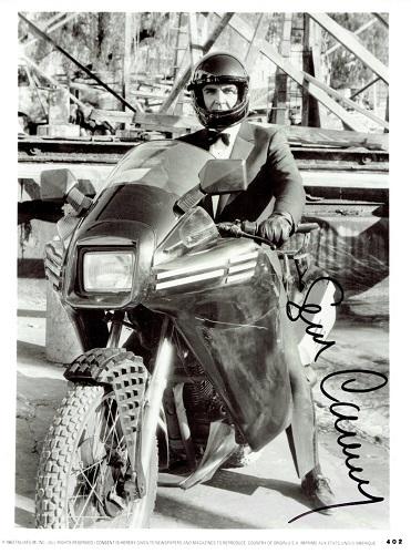 James Bond motorcycle chase scene