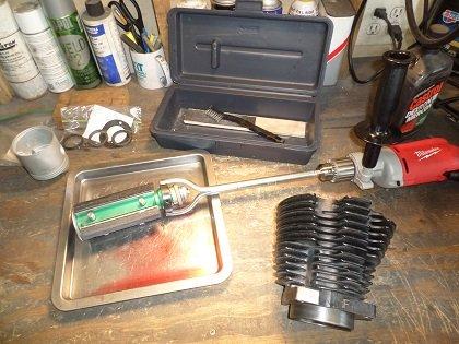 Motorcycle cylinder hone