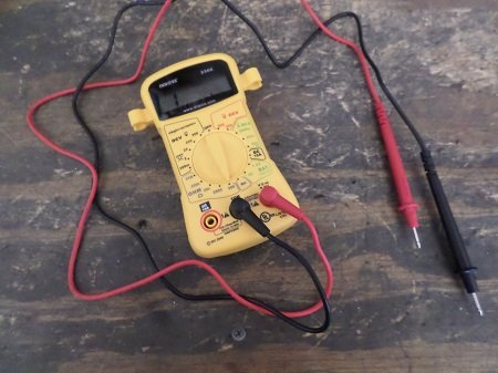 using a multimeter to test a wire