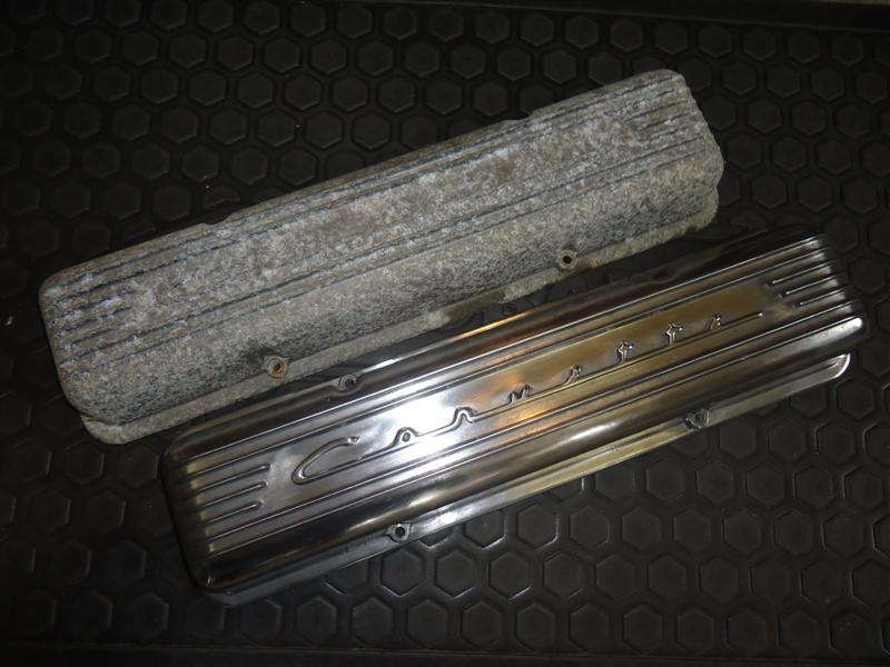 polishing engine valve covers