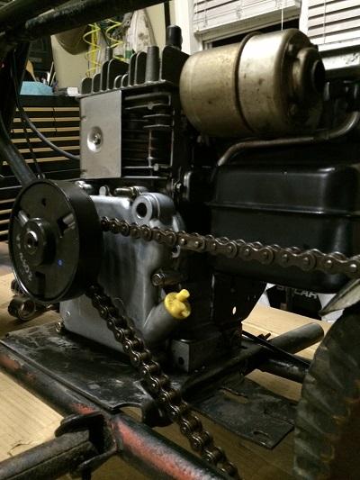 torque converter on mini-bike