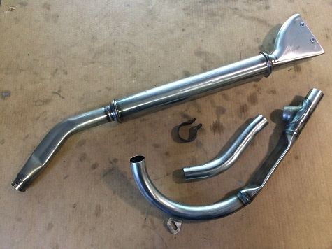 Harley-Davidson Servi-car exhaust installation