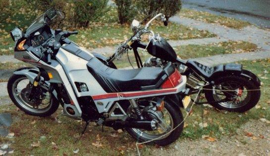 Yamaha Seca-Turbo and hardtail Sportster